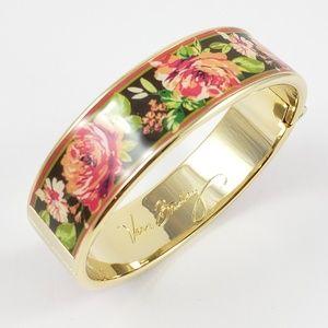 Vera Bradley Flower Bangle Bracelet Hinged